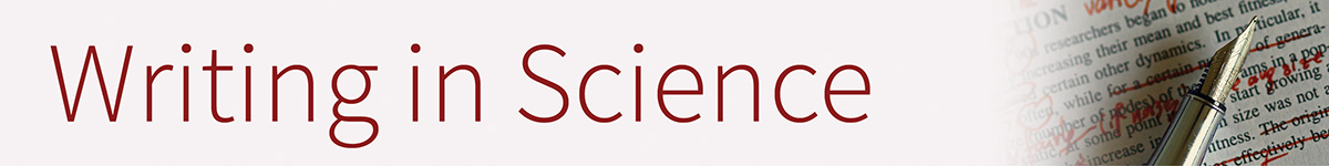 Writing in Science Banner