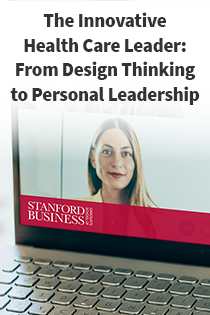 The Innovative Health Care Leader: From Design Thinking to Personal Leadership Banner