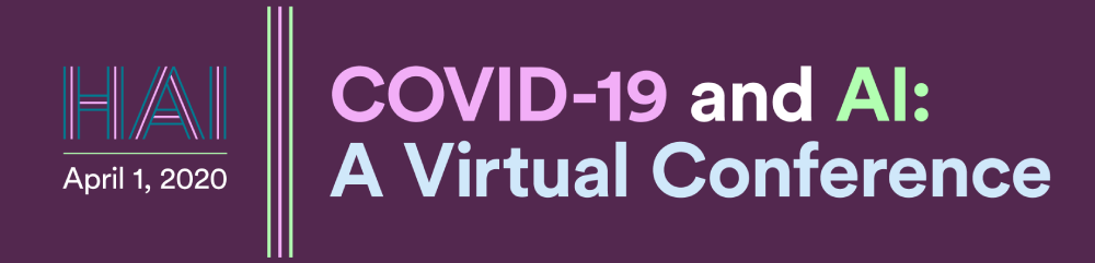 COVID-19 and AI: A Virtual Conference (Recorded Webinar) Banner